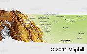 Physical Panoramic Map of La Cocha