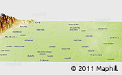Physical Panoramic Map of Leales