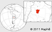 Blank Location Map of Tucuman