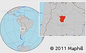 Gray Location Map of Tucuman