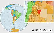Political Location Map of Tucuman