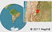Satellite Location Map of Tucuman