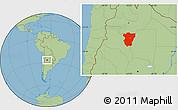 Savanna Style Location Map of Tucuman