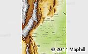 Physical Map of Tucuman
