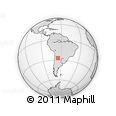 Outline Map of Tucuman