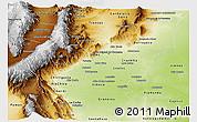 Physical Panoramic Map of Tucuman