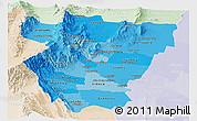 Political Shades Panoramic Map of Tucuman, lighten
