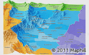 Political Shades Panoramic Map of Tucuman