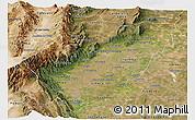 Satellite Panoramic Map of Tucuman