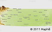 Physical Panoramic Map of Simoca