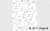 Blank Simple Map of Tucuman
