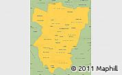Savanna Style Simple Map of Tucuman