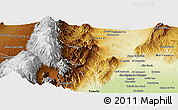Physical Panoramic Map of Tafi Viejo