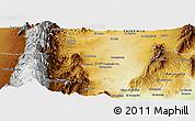 Physical Panoramic Map of Trancas