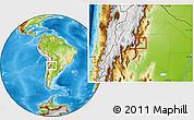 Physical Location Map of Yerba Buena
