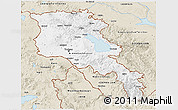 Classic Style 3D Map of Armenia