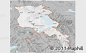 Gray 3D Map of Armenia