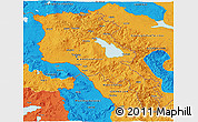 Political 3D Map of Armenia