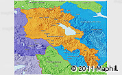 Political Shades 3D Map of Armenia
