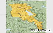 Savanna Style 3D Map of Armenia