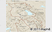Shaded Relief 3D Map of Armenia