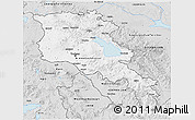 Silver Style 3D Map of Armenia