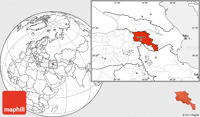 where is yerevan armenia on the map Blank Location Map Of Armenia X Yerevan where is yerevan armenia on the map