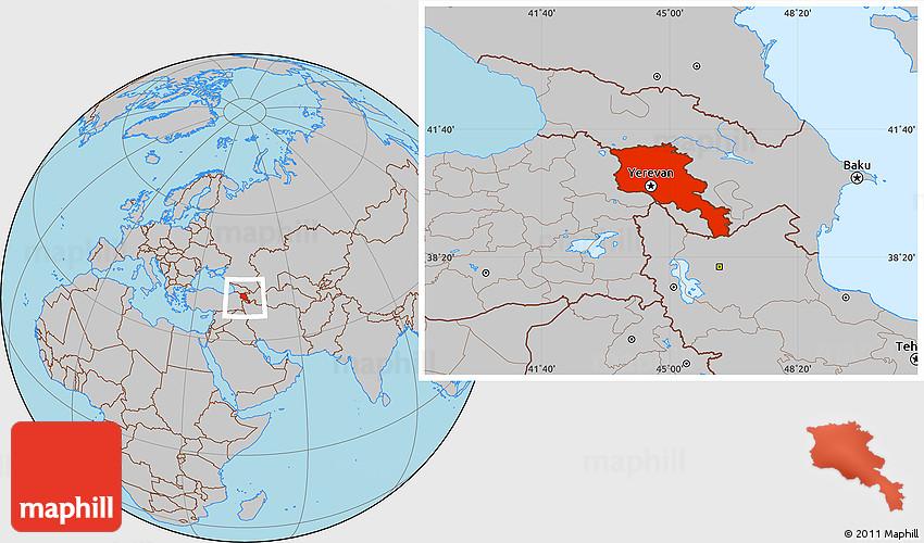 Gray Location Map of Armenia X Yerevan on tashkent world map, monaco world map, tallinn world map, almaty world map, zagreb world map, liechtenstien world map, andorra world map, bishkek world map, karachi world map, astana world map, vatican city world map, kiev world map, sierra leone world map, vilnius world map, podgorica world map, dushanbe world map, kazan world map, riga world map, odessa world map, malta world map,