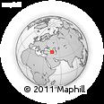 Outline Map of Armenia X Yerevan