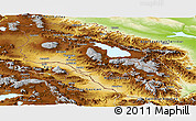 Physical Panoramic Map of Armenia x Yerevan