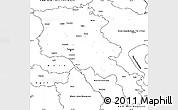 Blank Simple Map of Armenia x Yerevan