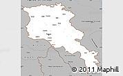 Gray Simple Map of Armenia x Yerevan