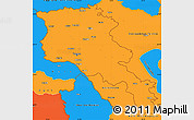 Political Simple Map of Armenia x Yerevan