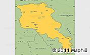 Savanna Style Simple Map of Armenia x Yerevan