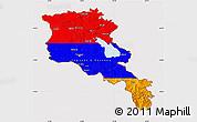 Flag Map of Armenia