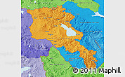 Political Shades Map of Armenia