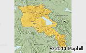 Savanna Style Map of Armenia