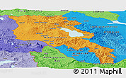 Political Shades Panoramic Map of Armenia