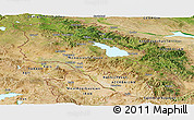 Satellite Panoramic Map of Armenia