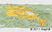 Savanna Style Panoramic Map of Armenia