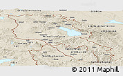 Shaded Relief Panoramic Map of Armenia