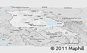 Silver Style Panoramic Map of Armenia