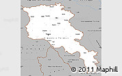 Gray Simple Map of Armenia