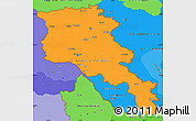 Political Shades Simple Map of Armenia