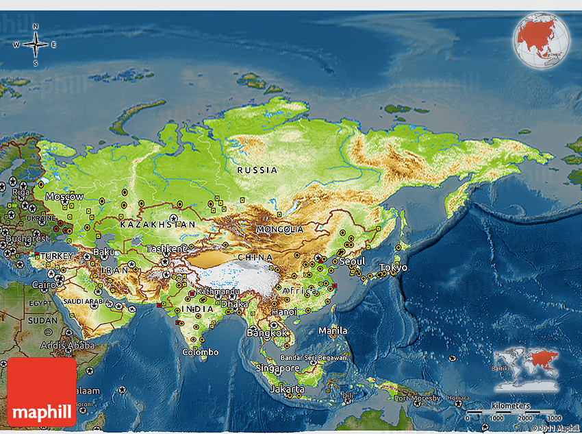 Map Of Asia 3d.Physical 3d Map Of Asia Darken