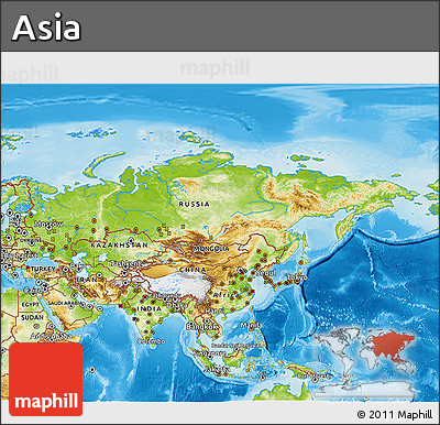 Map Of Asia 3d.Physical 3d Map Of Asia