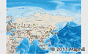 Shaded Relief 3D Map of Asia