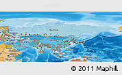Political Shades Panoramic Map of Asia