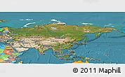 Satellite Panoramic Map of Asia, political outside, satellite sea