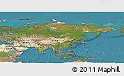 Satellite Panoramic Map of Asia
